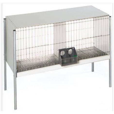 Cage avec plaque arrière-fil d'acier et pieds