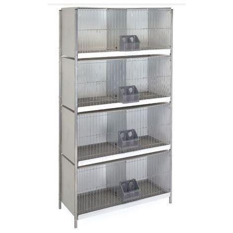 Cage arriere-métal. avec pieds -4 étages
