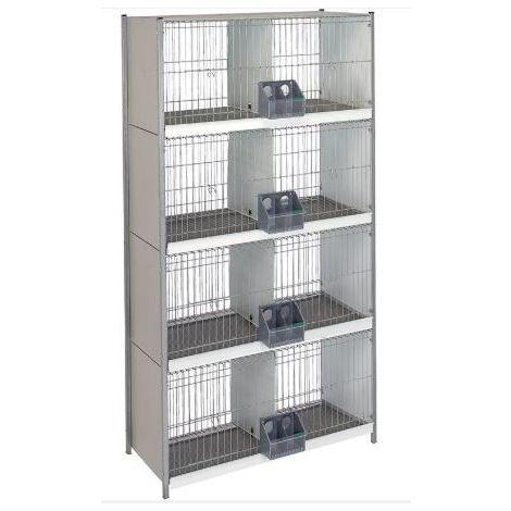 Cage arriere-fil d'acier. avec pieds -4 étages