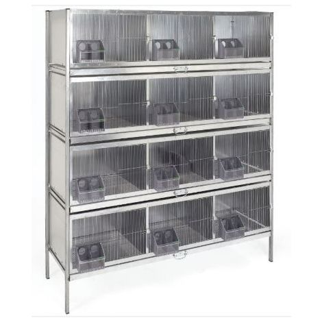 Cage 12 compartiments  pour pigeons