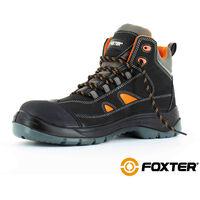 Foxter - Chaussures de sécurité   Hommes   Montantes   Légères   Imperméable   Sans métal   Cuir Noir   S3 SRC 39 Noir - Noir
