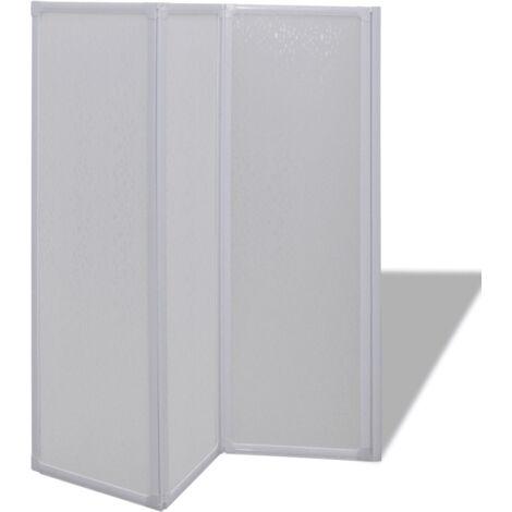 Cloison de salle de bain pare baignoire 3 volets 117 cm - Noir