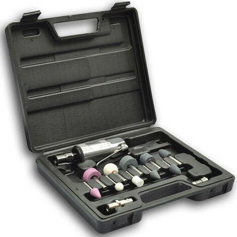 Coffret set mini meuleuse pneumatique + accessoires outils garage atelier bricolage