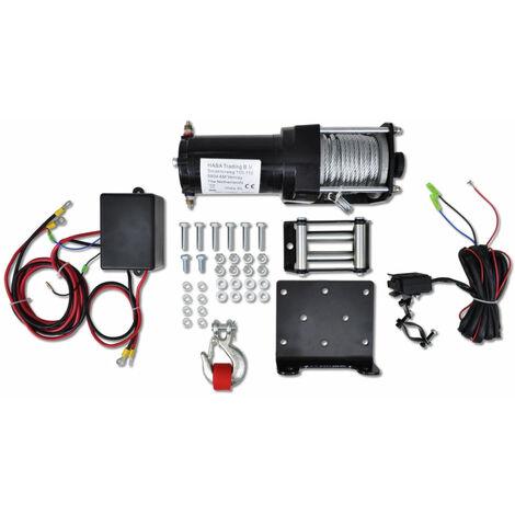 Treuil électrique 12V 1236kg outils atelier garage