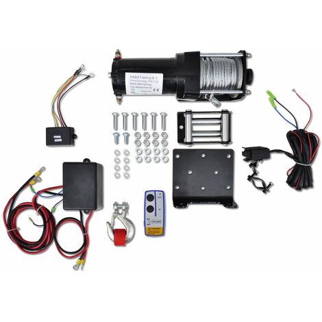Treuil électrique 12V 1360kg outils atelier garage