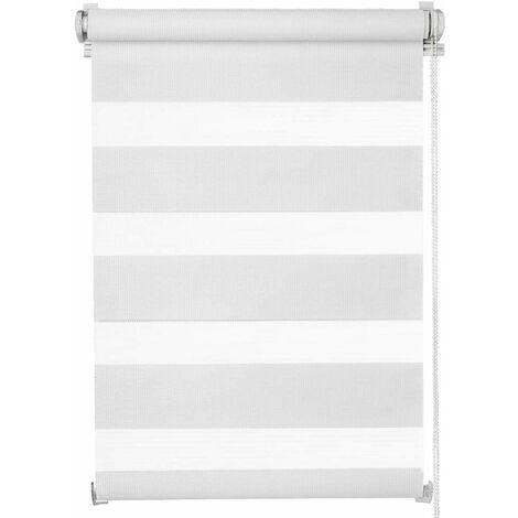 Store enrouleur fenêtre rideau pare-vue volet roulant largeur 120 cm / hauteur 230 cm blanc luminosité réglable occultant - Blanc
