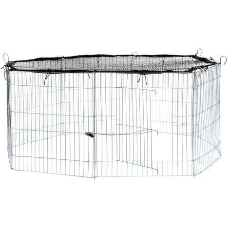 Enclos pour rongeurs filet de protection diamètre 145 cm noir - Noir