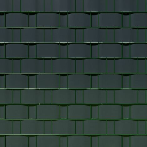Brise vue brise vent film anti regards clôture paravent PVC gris anthracite 70 m - Gris