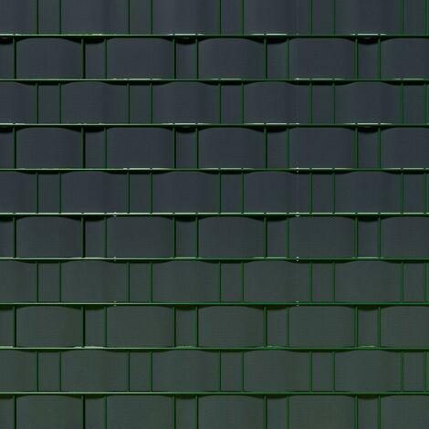 Brise vue brise vent film anti regards clôture paravent PVC gris anthracite 35 m - Gris