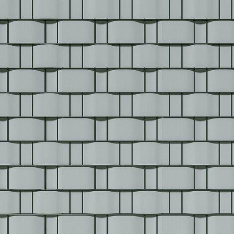 Brise vue brise vent film anti regards clôture paravent PVC gris clair 70 m - Gris
