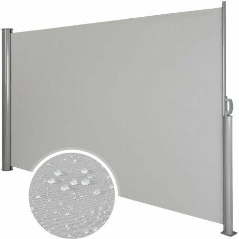 Auvent store latéral brise-vue abri soleil aluminium rétractable 160 x 300 cm gris - Gris