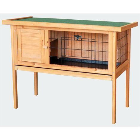 Cabane clapier à lapins rongeurs poulailler lapinière ou autres petits animaux en bois 915 x 450 x 700 mm - Bois
