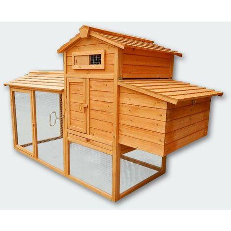 Cabane clapier à lapins rongeurs poulailler lapinière ou autres petits animaux en bois 1170 x 560 x 130 mm - Bois