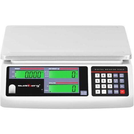 Balance compteuse - 30 kg / 1 g - 3 écrans LCD - Batterie 72 h
