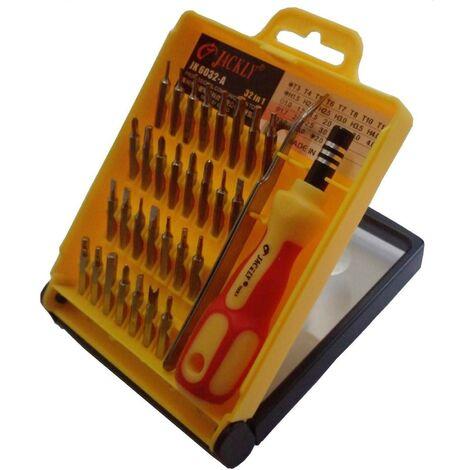 Coffret tournevis de précision 32 pc Reparation téléphone Console Mp3 Ordinateur outils atelier bricolage - Or