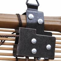 Store enrouleur bambou brun 120 x 160 cm fenêtre rideau pare-vue volet roulant - Or