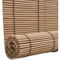 Store enrouleur bambou brun 140 x 160 cm fenêtre rideau pare-vue volet roulant - Or