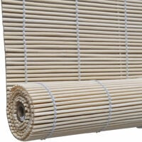 Store enrouleur bambou naturel 120 x 160 cm fenêtre rideau pare-vue volet roulant - Or