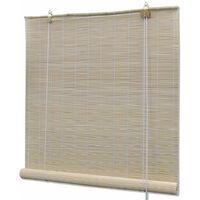 Store enrouleur bambou naturel 150 x 220 cm fenêtre rideau pare-vue volet roulant - Or