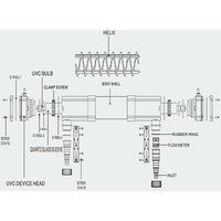 Stérilisateur UVC clarificateur d'eau bassins étang lampe 72 watts