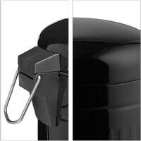 Poubelle à pédale rétro salle de bain cuisine inox seau intérieur 3 litres noir - Noir