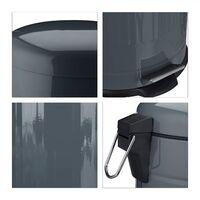 Poubelle à pédale rétro salle de bain cuisine inox seau intérieur 3 litres gris - Gris