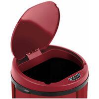 Poubelle automatique 30 litres coloris rouge avec récipient intérieur acier au carbone - Or