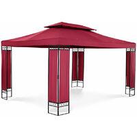 Pergola pavillon barnum tonnelle tente abri gazebo de jardin terrasse beige rouge - 3 x 4 m - 160 g/m² - Beige