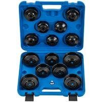 Coffret cloches filtre à huile universelle force de serrage : 115 Nm 16 pièces - Or