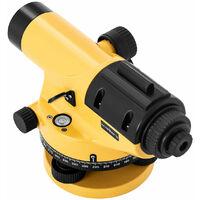 Niveau de chantier avec trépied et mire grossissement 28x objectif 36 mm écart 1,5 mm compensateur à amortissement magnétique - Or