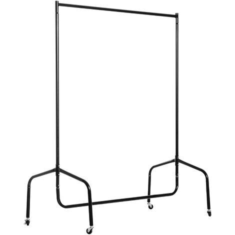 HOMCOM® Kleiderständer Wäscheständer Rollgarderobe (120 x 60 x 150 cm) - schwarz