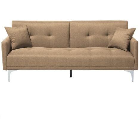 Sofá cama 3 plazas tapizado beige LUCAN