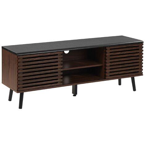 Mueble TV madera oscura PERTH