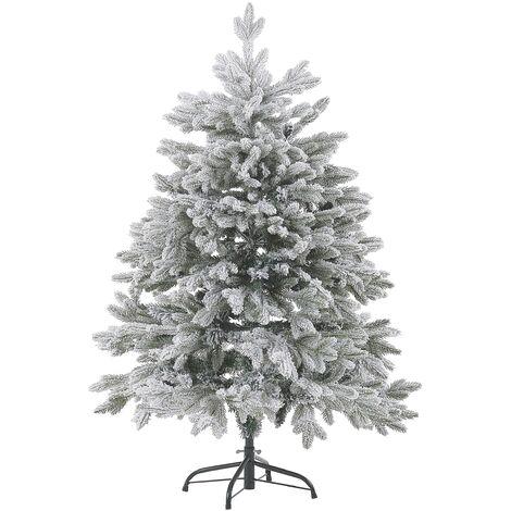 Árbol de Navidad efecto nieve 120 cm blanco FORAKER