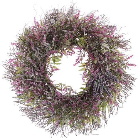 Corona para puerta violeta ø 50 cm TELDE