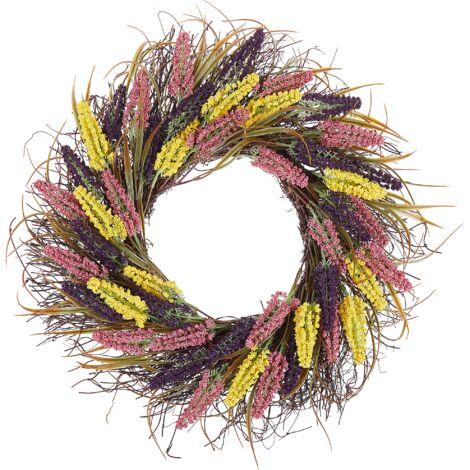 Corona multicolor para puerta ø 50 cm CANDELARIA