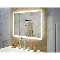 Espejo de pared LED 80x60 cm plateado ADOUR