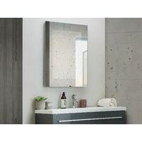 Espejo de pared LED 60x80 cm plateado ELORN