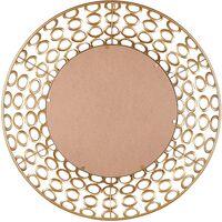 Espejo de pared ø80 cm dorado BOURDON