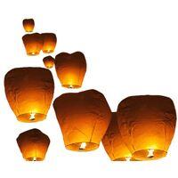 Conjunto de 10 linternas volantes blancas