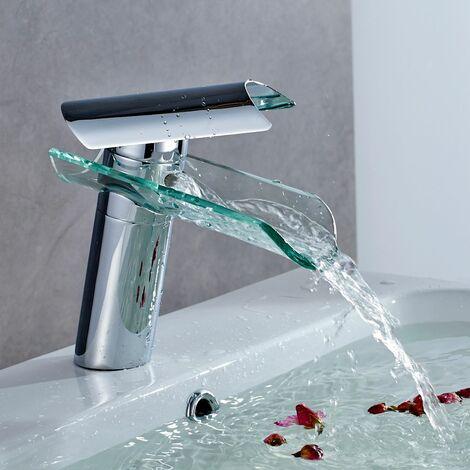 AURALUM Robinet de lavabo Robinet de carrelage mitigeur en cuivre