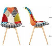 Chaise scandinave Lot de 2 chaise Salle à manger