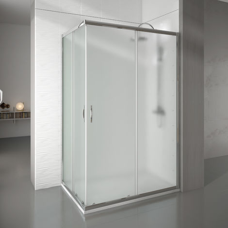 Mampara de ducha rectangular 2 fijos+2 puertas 68-70x128-130 newcarglass