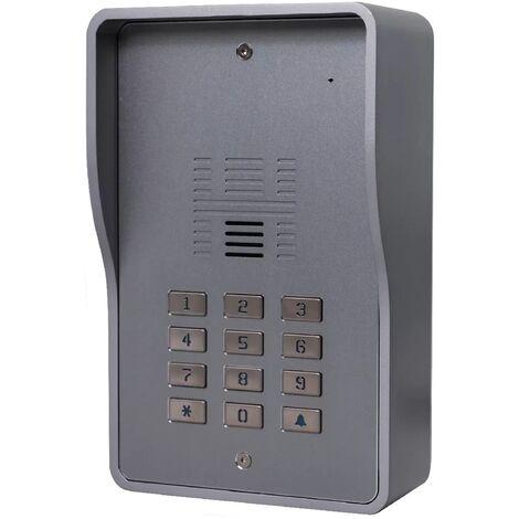 Interphone collectif GSM 3G anti-vandale 200 appartements - Déverrouillage portail/porte/gâche à distance