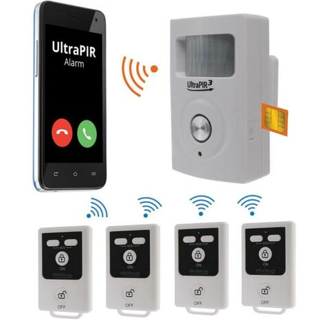 Alarme GSM 3-en-1 sans-fil autonome - UltraPIR 3G + 4 télécommandes nouvelle génération (gamme BT)