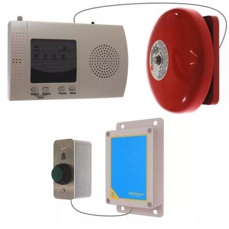 Sonnette sans-fil extérieure 900m longue distance haute résistance et récepteur intérieur avec cloche (gamme FX)