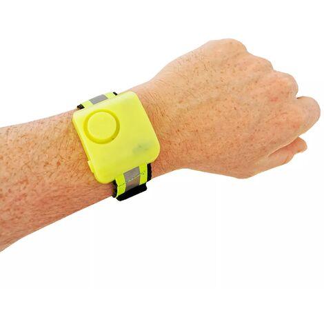 Alarme personnelle de défense 130 dB pour footing - Jaune fluo