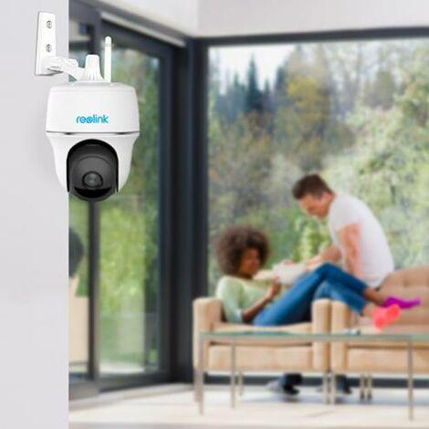 Caméra motorisée 100% sans-fil intérieure autonome IP / WIFI - Plage horaire / IP64 / 1080P FHD / APP (Reolink Argus PT)