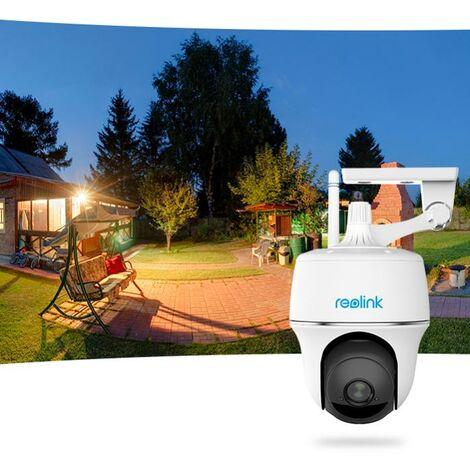 Caméra motorisée 100% sans-fil extérieure autonome IP / WIFI - Plage horaire / IP64 / 1080P FHD / APP (Reolink Argus PT)