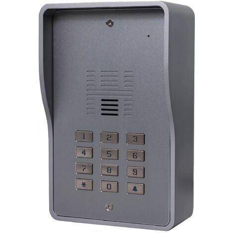 Interphone collectif GSM 4G anti-vandale 200 appartements - Déverrouillage portail/porte/gâche - Code d'accès - VoLTE